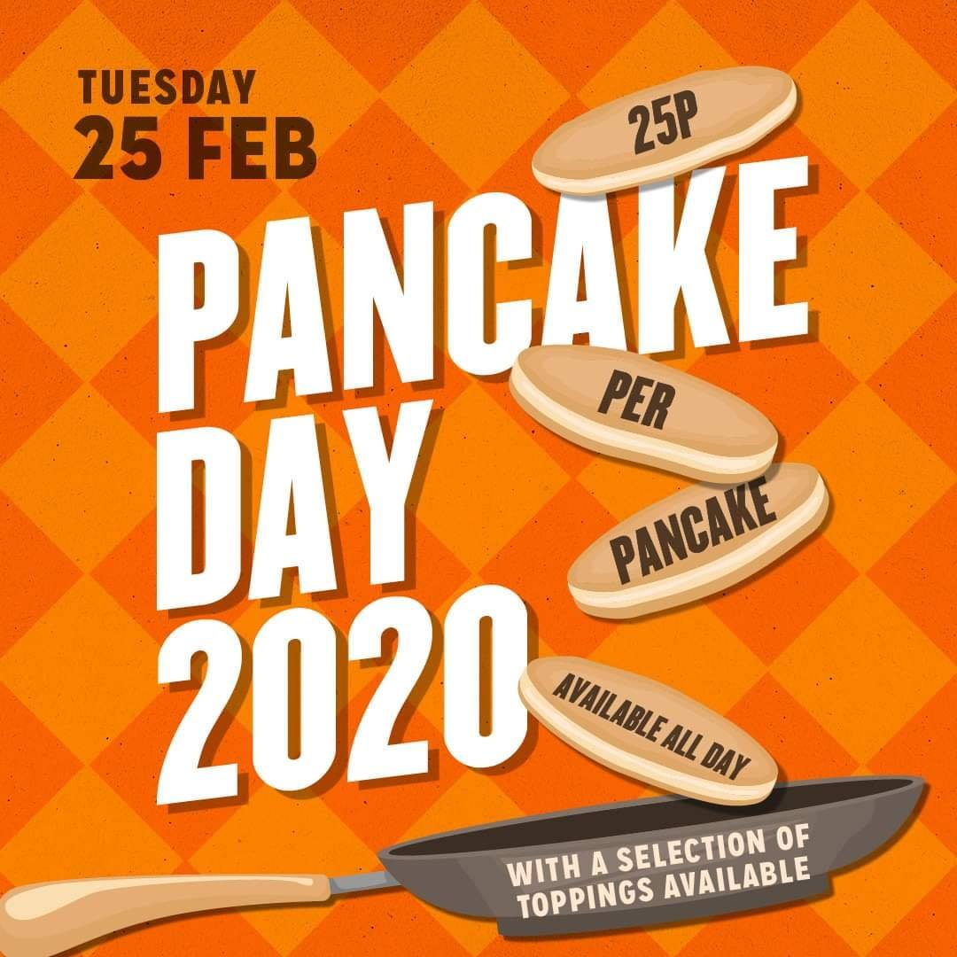 25p Pancakes - The Horn in Hand