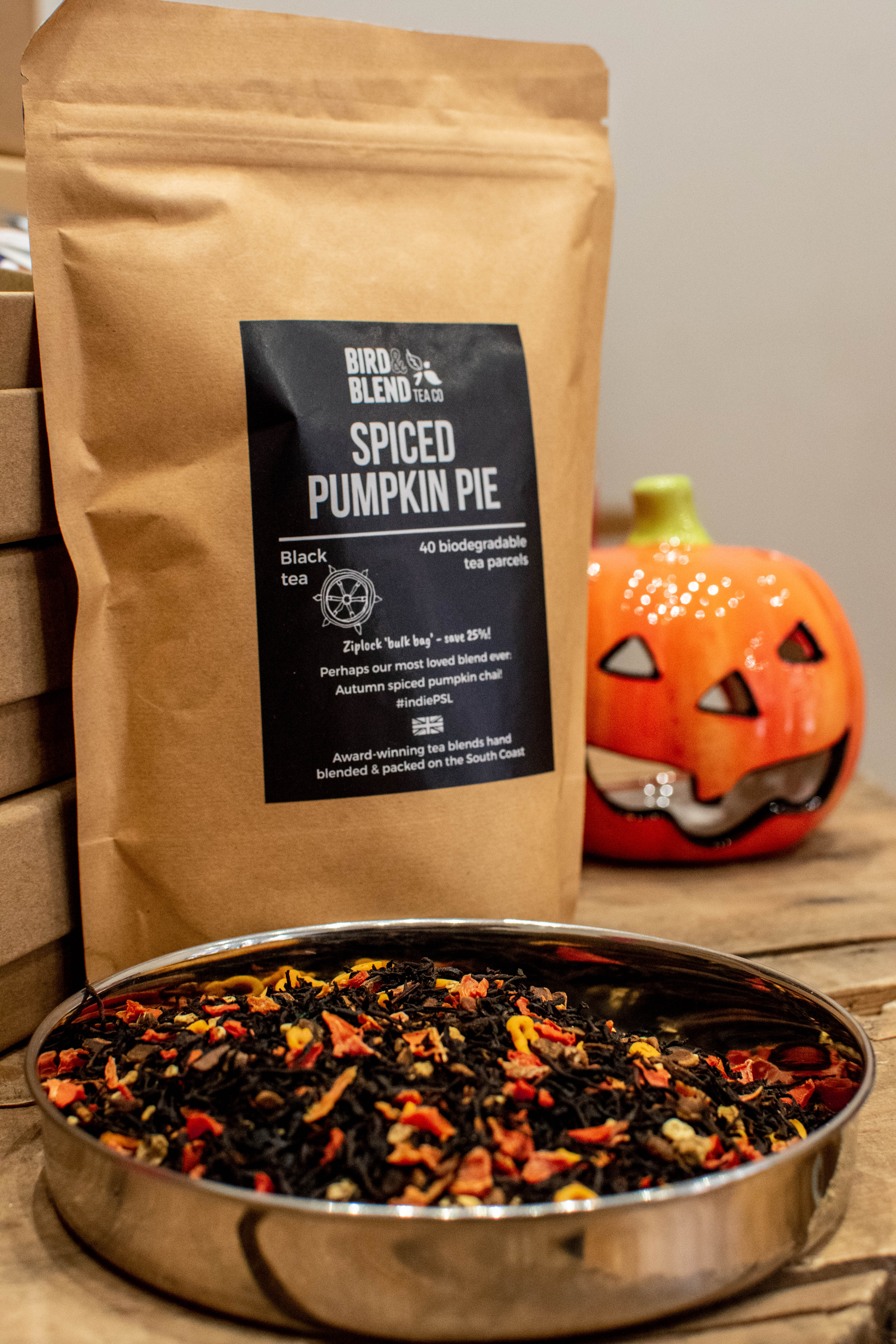 Spiced Pumpkin Pie Tea - Bird & Blend