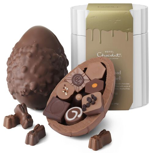 Extra Thick Rocky Road to Caramel Easter egg -  Credit: Hotel Chocolat